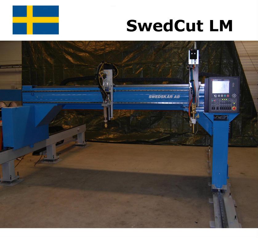 SwedCut LM med Burny Phantom. Utrustad för både plasmaskärning och gasskärning.