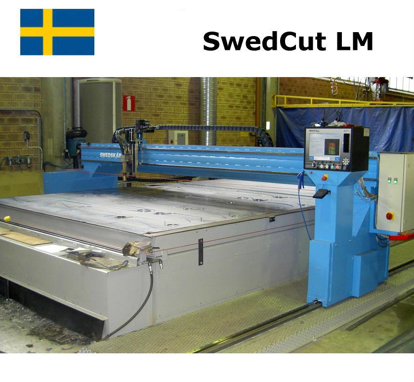 SwedCut LM med Burny 10 lcd+. Utrustad för plasmaskärning.