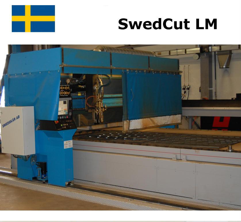 SwedCut LM med Burny 10 lcd+. Utrustad för både plasmaskärning och gasskärning.
