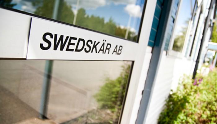 Swedskär entré, plasmaskärmaskin