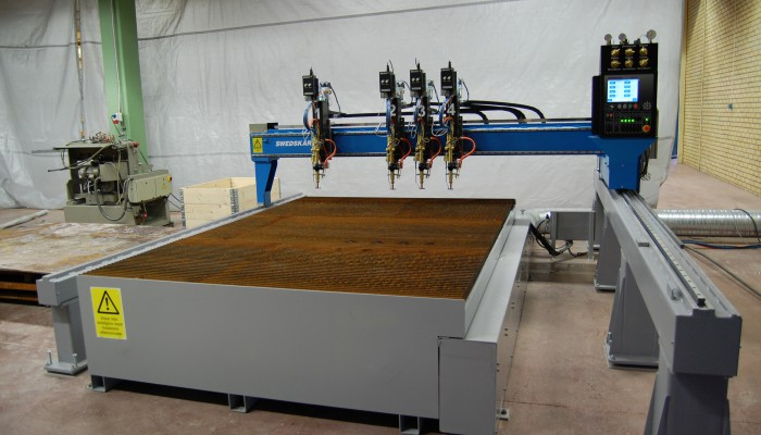 Gasskärmaskin SWEDCUT HM för gasskärning. Kan även utrustas med plasmabrännare.