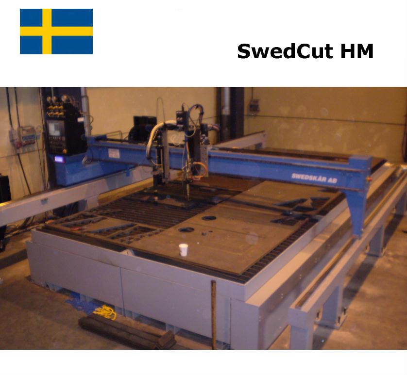 SwedCut HM med Burny Phantom. Utrustad för både plasmaskärning och gasskärning.