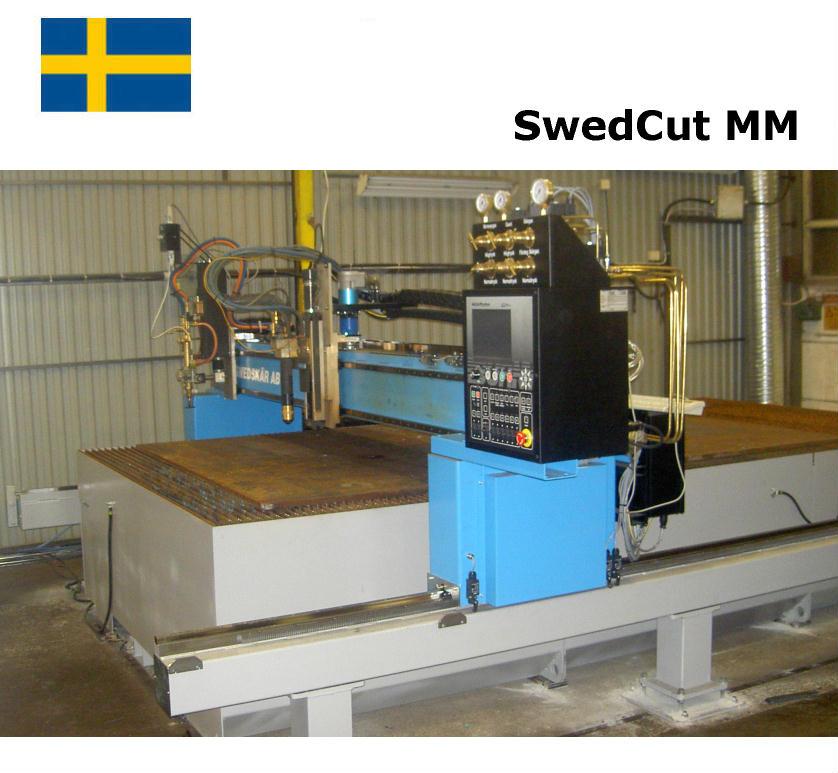 SwedCut MM med Burny Phantom. Utrustad för både plasmaskärning och gasskärning.