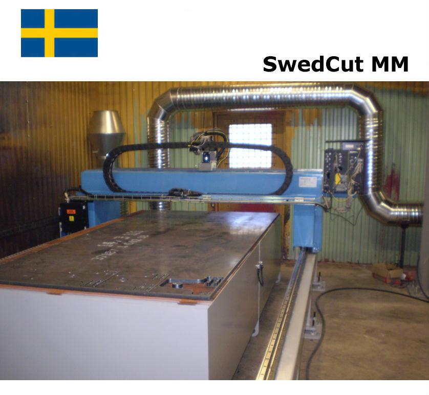 SwedCut MM med Burny Phantom. Utrustad för plasmaskärning.