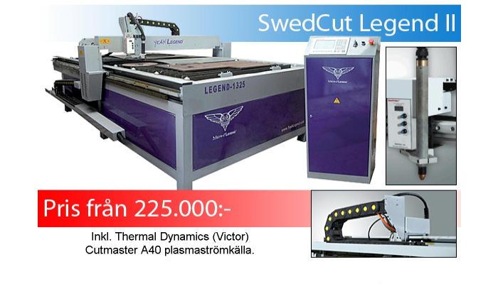 SWEDCUT Legend II enkel skärmaskin för små verkstäder, plåtslagerier och skolor.